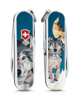 Victorinox Classic The Wolf is Coming Home, 7 toimintoa, Sininen/Kirjava (31173001) -  - 2NDC-166540 - 1