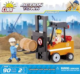 COBI - ACTION TOWN FORKLIFT 2.  90 + 2 FIG -  - 2NDC-100730