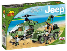COBI - JEEP WILLYS WITH HELICOPTER  250 OSAA -  - 2NDC-100650 - 1
