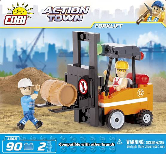 COBI - ACTION TOWN FORKLIFT 2.  90 + 2 FIG -  - 2NDC-100730 - 1