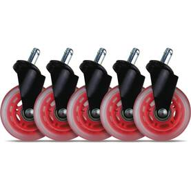 "El33t 3"" Casters for gaming chairs (Red) Univ., 5 pcs -  - 2NDC-170041 - 1"