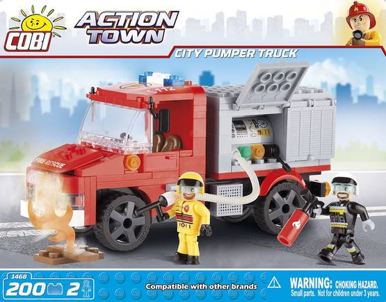COBI - CITY PUMPER TRUCK 200 + 2 FIG -  - 2NDC-100691 - 1