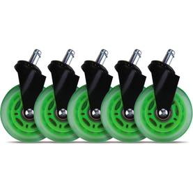 "L33T 3"" Casters for gaming chairs (Green) Univ., 5 pcs -  - 2NDC-170042 - 1"