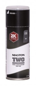 Maston Spraymaali TWO 2K syvänmusta matt -  - 6412490039332 - 1