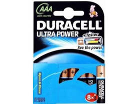 Duracell Ultra Power Alkaline Batteries 8xAAA -  - 2NDC-66222 - 1
