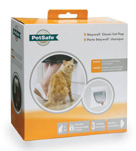 Manual 4 Way Locking Classic Cat Flap-White w/tunnel -  - 2NDC-81792 - 1