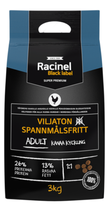 Racinel Black Label Adult chicken 3kg - Lemmikkien hoito - 2NDC-80223 - 1