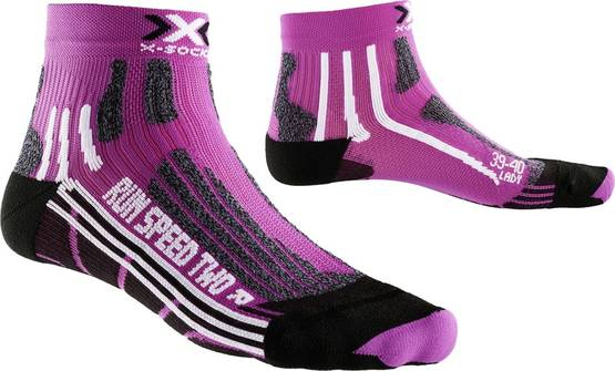 X-Socks Run Speed Two Lady juoksusukat fuksia, eri kokoja -  - 2NDC-112204 - 1