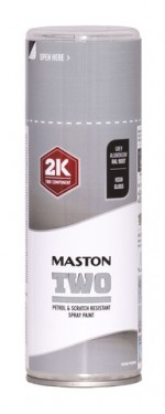 Maston Two 2K harmaa alumiini RAL9007 400 ml -  - 6412490037697 - 1