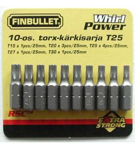 Torx kärkisarja 10-os. S2 Securit -  - 6438152000717 - 1