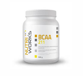 Nutri Works BCAA211 aminohappojauhe, appelsiini 0,5 kg -  - 2NDC-103427 - 1
