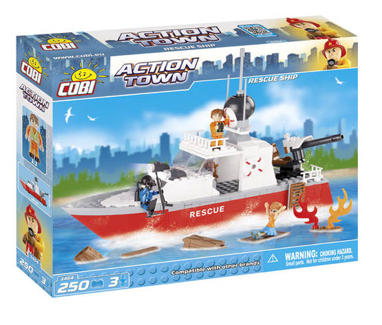 COBI - FIRE RESCUE SHIP 250 + 3 FIG - Sisälelut - 2NDC-100677 - 1