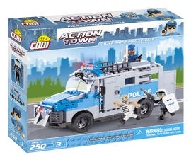 COBI - POLICE ARMOURED VEHICLE 250 + 3 FIG -  - 2NDC-100678