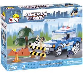 COBI - POLICE CAR - 150 + 2 FIG -  - 2NDC-100718 - 1