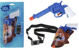 WATER PISTOL PP COWBOY STYLE PLUS HOLDER 18CM ON OUR DESIGN BLISTERCARD/ 130X38X250MM, BLISTERCARD -  - 8711295686078 - 1