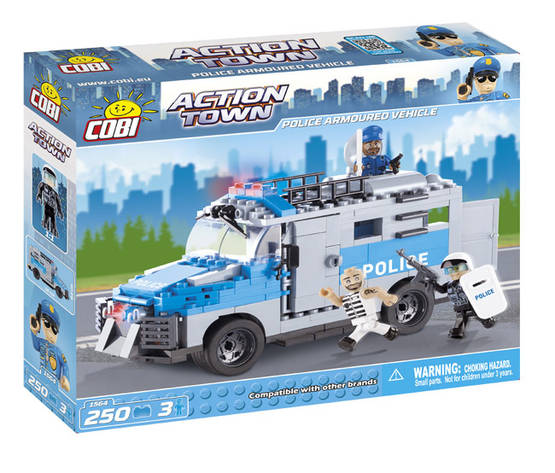 COBI - POLICE ARMOURED VEHICLE 250 + 3 FIG -  - 2NDC-100678 - 1