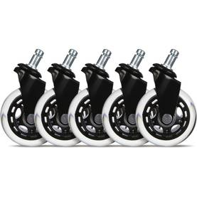 "L33T 3"" Casters for gaming chairs (Black) Univ., 5 pcs -  - 2NDC-170039 - 1"