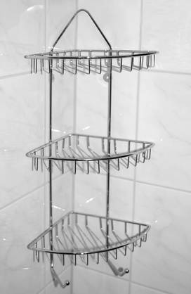 BATHROOM RACK, CHROME WIRE, SIZE:  60 X 27 CM, WEIGHT 820GR, WITH DESIGN ARTWORK HANGTAG // 275 X 21 -  - 8711295382949 - 1
