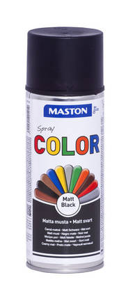 Maston Color spraymaali matta musta -  - 6412491201219 - 1
